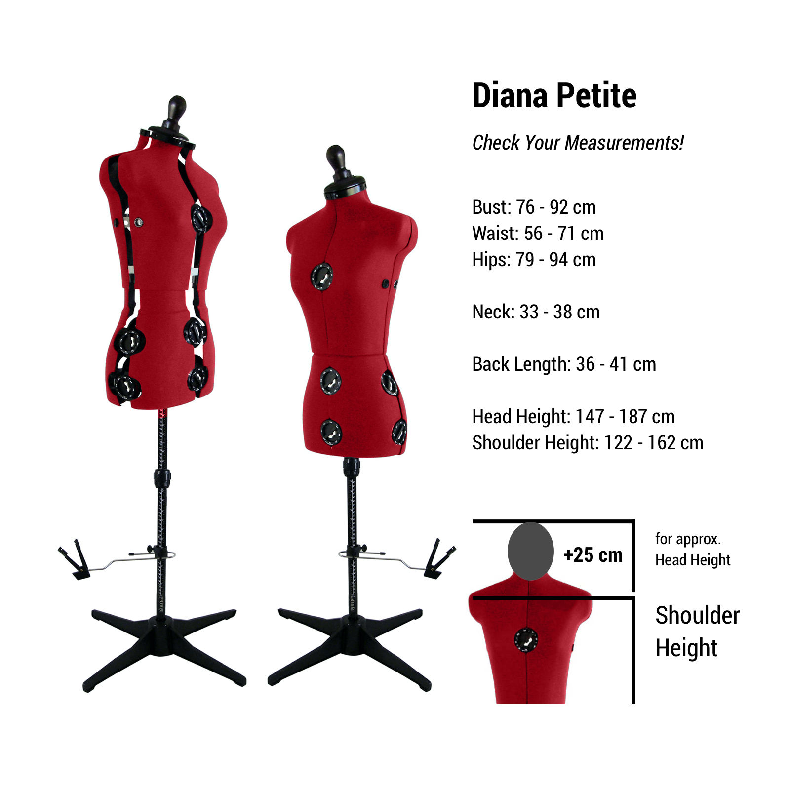 Adjustable Dress Form Mannequin Petite