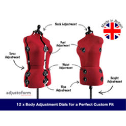 Available in 4 Sizes. Diana 8-Part Adjustable Dressmaker/'s Dummy