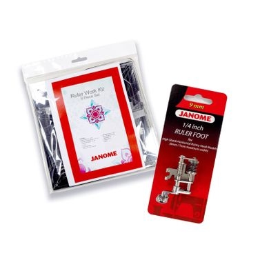 Janome Ruler Work Kit + Foot (202-441-009) for High Shank 9mm / 7mm