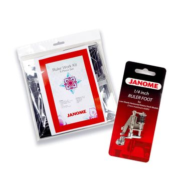 Janome Ruler Work Kit + Foot (202-442-000) for Low Shank Top Loading Models