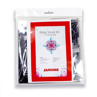 Janome Ruler Work Kit (RWK001) Quilting Templates for Ruler Work Foot