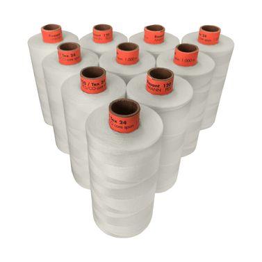Rasant Thread Core Spun Polyester Cotton (0189 Soft Grey) 1000m x 10 Reels