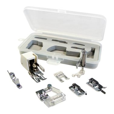 Patchwork Quilter's Sewing Machine Presser Foot Set (Universal for Low Shank 7mm machines)