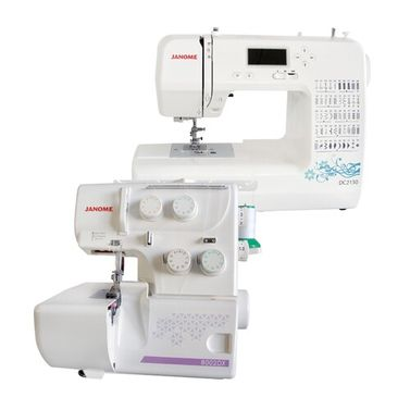 Janome DC2150 Sewing Machine + 8002DX Overlocker Package Deal