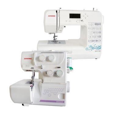 Janome DC2150 Sewing Machine + 8002DX Overlocker Set