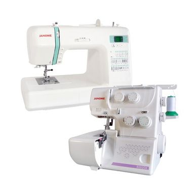 Janome DC2200 Sewing Machine + 8002DX Overlocker Package Deal