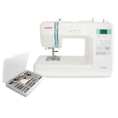 Janome DC2200 User-Friendly Sewing Machine + 15-Piece Presser Feet Set