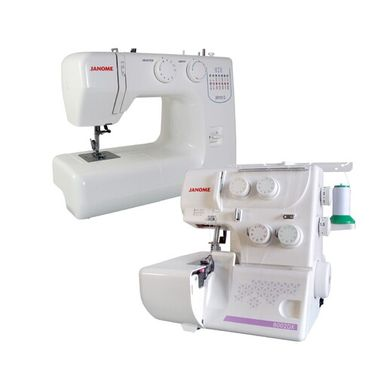 Janome JR1012 Sewing Machine + 8002DX Overlocker Package Deal