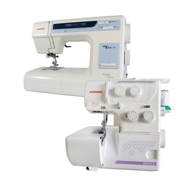 Janome My Excel 18W Sewing Machine + 8002DX Overlocker Package Deal