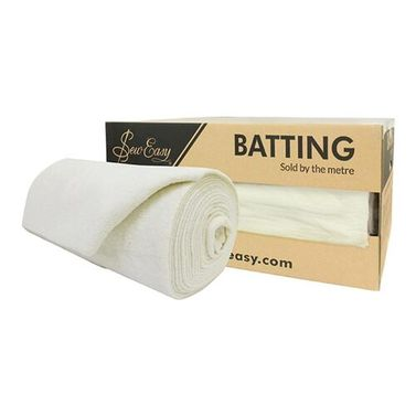 Sew Easy 100% Wool Batting (254cm Width) - Whole Roll 15m