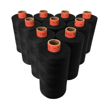 Rasant Thread Core Spun Polyester Cotton (4000 Black) 1000m x 10 Reels