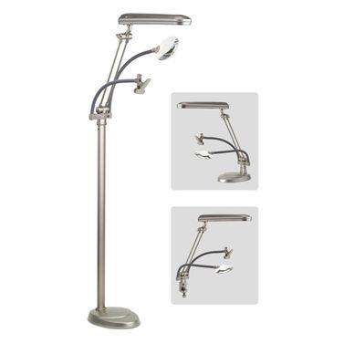 Ott-Lite 24w Floor Lamp 3-in-1 with Clamp & Magnifier