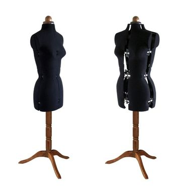 Adjustoform Lady Valet Mannequin Size 10 - 16 in Black