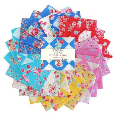 "Lecien Flower Sugar ""Very Berry Cherry"" - Charm Pack"