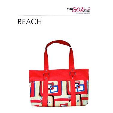 Beach Bag Pattern by You Sew Girl