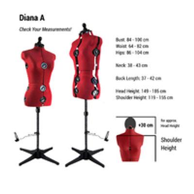 Diana 8-Part Dress form large full figure